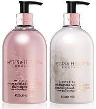 Духи, Парфюмерия, косметика Набор - Baylis & Harding Pink Magnolia & Pear Blossom (b/lot/500ml + soap/500ml)