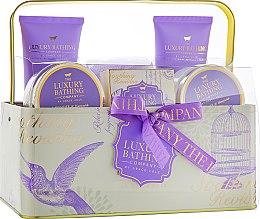 Духи, Парфюмерия, косметика Набор - Grace Cole The Luxury Bathing Lavender & Honeysuckle (sh/gel/100ml+bath/f/100ml+b/butt/100ml+b/salt/100ml+soap/100g)