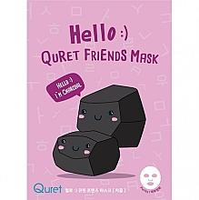 Духи, Парфюмерия, косметика Маска для лица на основе древесного угля - Quret Hello Friends Mask Charcoal