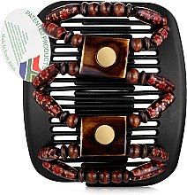 Духи, Парфюмерия, косметика Заколка для волос Stones & Bones 001, на черных гребнях - African Butterfly Hair Clip