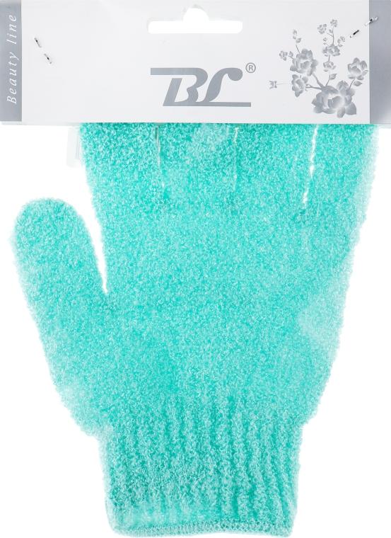 Мочалка-перчатка банная, бирюзовая - Beauty Line