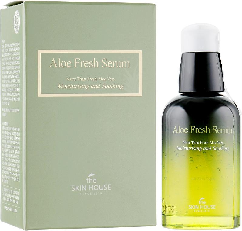 Увлажняющая и успокаивающая сыворотка с экстрактом алоэ - The Skin House Aloe Fresh Serum — фото N1