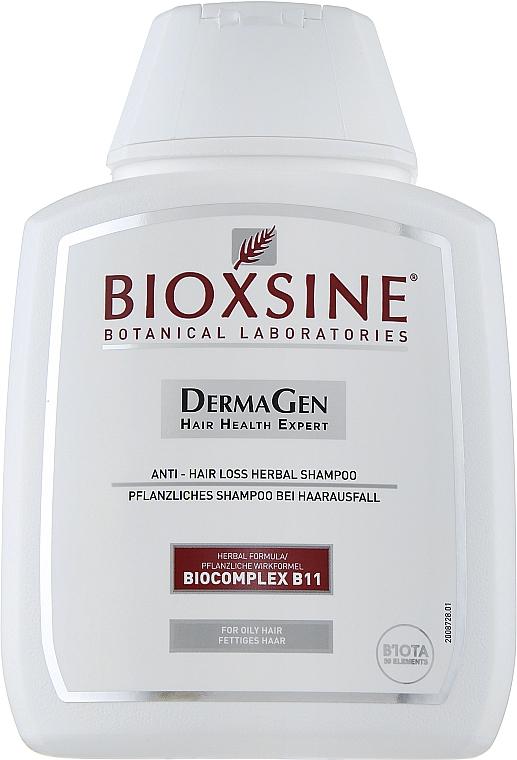 Шампунь растительный, против выпадения для жирных волос - Biota Bioxsine Shampoo