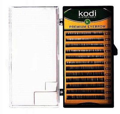 Накладные брови черные Straight Curl 0.12 (12 рядов: 4/5) - Kodi Professional — фото N1