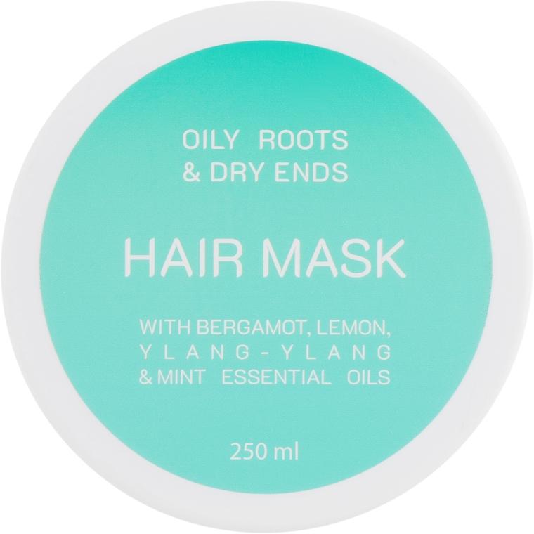 Маска для жирных корней и сухих кончиков волос - Looky Look Hair Mask Oily Roots And Dry Ends