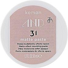 Духи, Парфюмерия, косметика Паста с матовым эффектом для волос - Kemon And Matte Paste 31