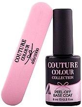 Духи, Парфюмерия, косметика Набор - Couture Colour Peel-Off Base Coat + Nail Buffer (base/9ml + buff/1pcs)