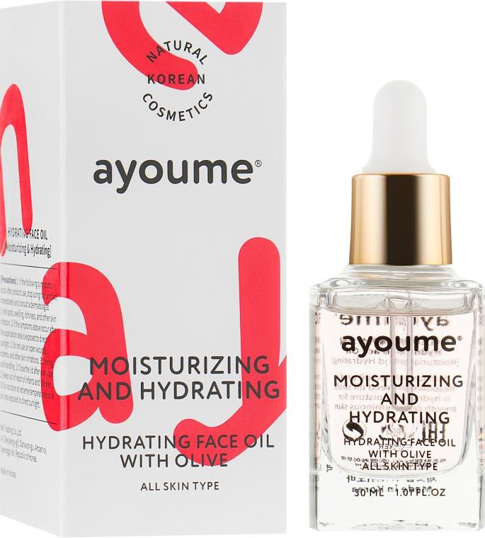 Масло для лица увлажняющее - Ayoume Moisturizing & Hydrating Face Oil With Olive