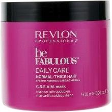 Духи, Парфюмерия, косметика Маска для нормальных и густых волос - Revlon Professional Be Fabulous C.R.E.A.M. Mask