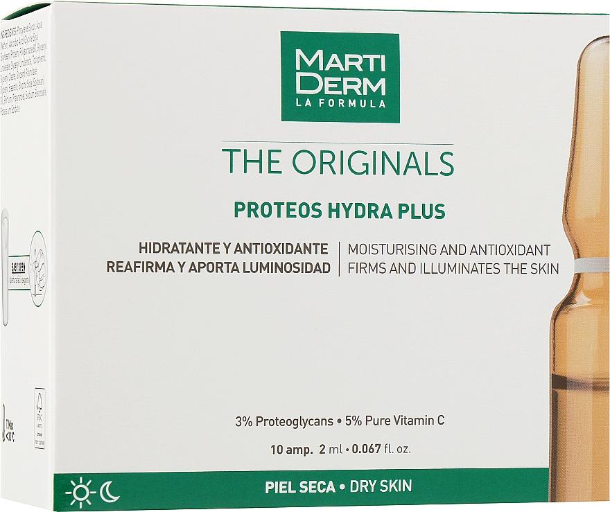 Ампулы для нормальной, смешанной и обезвоженной кожи - MartiDerm The Originals Proteos Hydra Plus