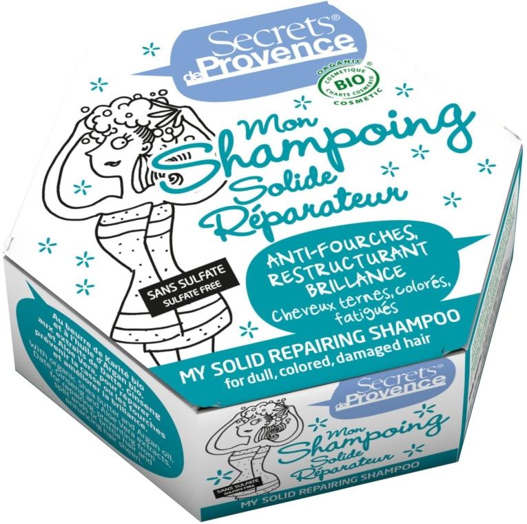 Твердый шампунь для поврежденных волос - Secrets De Provence My Solid Repairing Shampoo