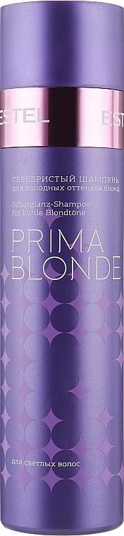 Серебристый шампунь для холодных оттенков блонд - Estel Professional Prima Blonde Shampoo
