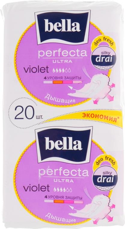 Прокладки Perfecta Violet Deo Fresh Extra Ultra, 10+10шт - Bella