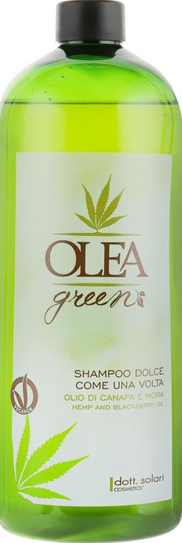 Шампунь для волос с маслом конопли и ежевики - Dott. Solari Olea Green Shampoo
