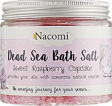 Соль мертвого моря для ванны с ароматом малины - Nacomi Sweet Raspberry Cupcake Bath Salt — фото N1