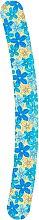Духи, Парфюмерия, косметика Пилочка для ногтей затененная 2-функциональная изогнутая, 74776, желтая с синими цветами - Top Choice