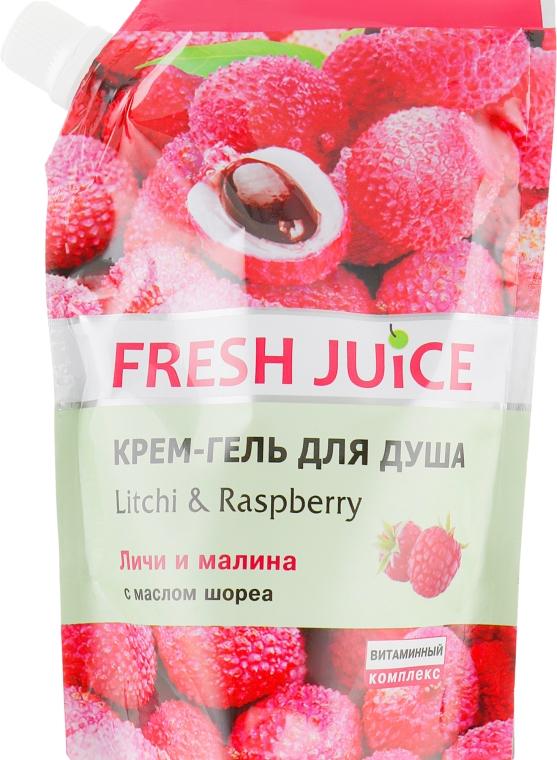 """Крем-гель для душа """"Личи и малина"""" - Fresh Juice Geisha Litchi & Raspberry (дой-пак)"""