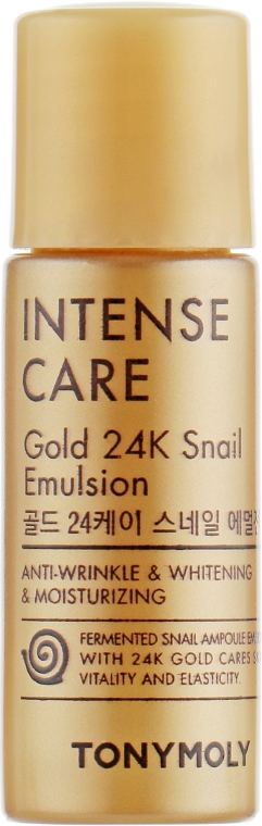 Эмульсия с 24K золотом и улиточным муцином - Tony Moly Intense Care Gold 24K Snail Emulsion (пробник)