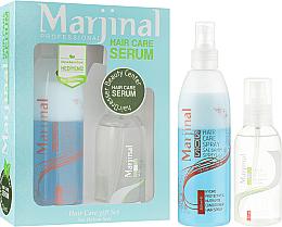 Духи, Парфюмерия, косметика УЦЕНКА Набор для ухода за волосами - Marjinal Hair Care Serum (ser/150ml + cond/spray/250ml) *