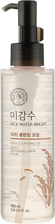 Гидрофильное масло для нормальной и сухой кожи - The Face Shop Rice Water Bright Cleansing Rich Oil