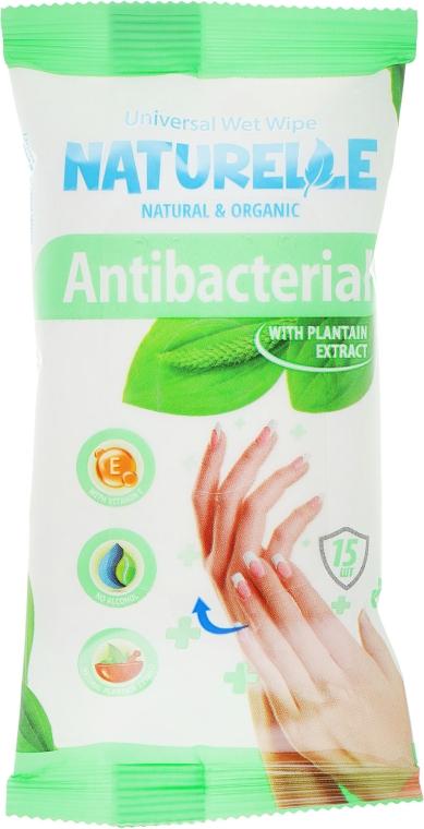 """Салфетки влажные """"Подорожник"""", 15шт - Naturelle Antibacterial"""