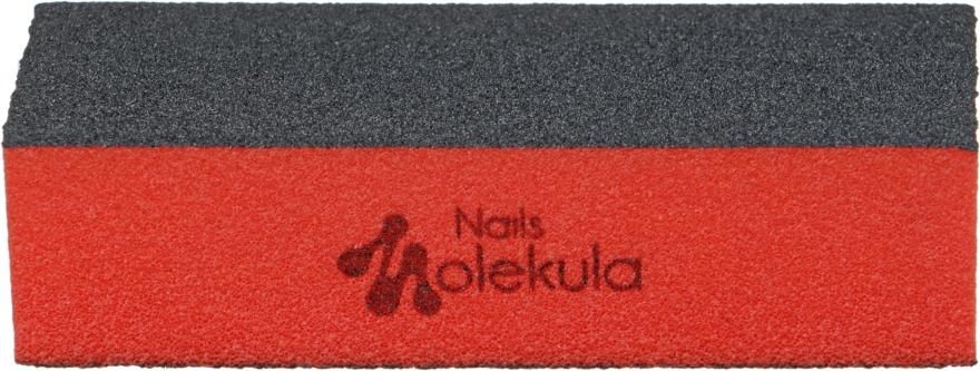 Баф для ногтей, M-28, 3 стороны,черный+оранжевый - Nails Molekula