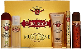 Духи, Парфюмерия, косметика Cuba Royal Must Have - Набор (edt/100ml + ash 100ml + sh/gel/200ml + deo/200ml + edt/35ml)