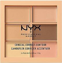 Духи, Парфюмерия, косметика Палитра корректирующих средств для лица - NYX Professional Makeup Palette Conceal Correct Contour