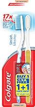 """Набор """"Шелковые нити 1+1"""", мягкая, голубая + желтая - Colgate Toothbrush — фото N1"""