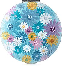 """Духи, Парфюмерия, косметика Зеркало косметическое круглое """"Цветы"""", голубое - Элита"""