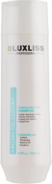 Увлажняющий аргановый шампунь - Luxliss Intensive Moisture Shampoo