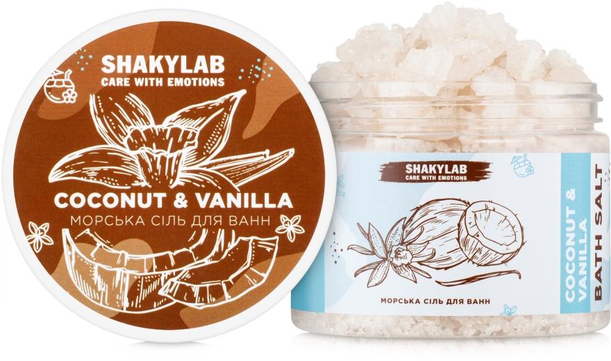 "Соль морская для ванн ""Coconut & Vanilla"" - SHAKYLAB Natural Bath Salt — фото N3"