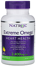 Духи, Парфюмерия, косметика Омега-жиры, 2400мг со вкусом лимона - Natrol Omega Extreme Heart Health