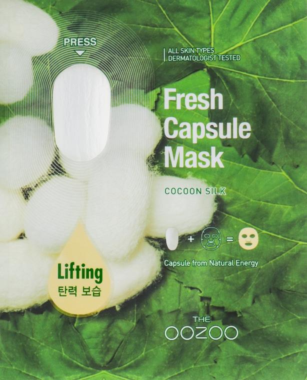 "Маска для лица с капсулой-активатором ""Шелк"" - The Oozoo Fresh Capsule Mask Cocoon Silk"