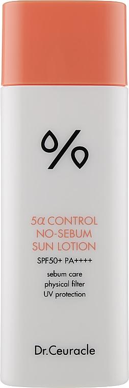 Матирующий солнцезащитный лосьон для лица - Dr.Ceuracle 5α Control No Sebum Sun Lotion