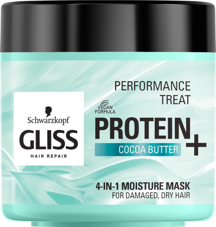 """Маска 4-в-1 """"Увлажнение"""" для поврежденных, сухих волос - Gliss Kur Performance Treat"""