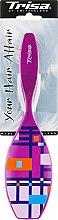 """Парфумерія, косметика Щітка масажна """"Fashion"""", велика, фіолетова - Trisa"""