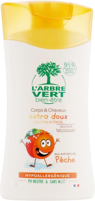 """Детский шампунь для ванны и душа """"Персик"""" - L'Arbre Vert"""