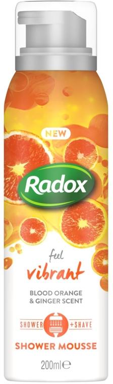 Мусс для душа и бритья - Radox Feel Vibrant Blood Orange & Ginger Scent Shower Mousse