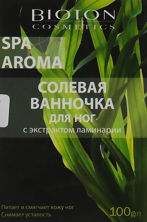 Солевая ванночка для ног с экстрактом ламинарии - Bioton Cosmetics Spa & Aroma