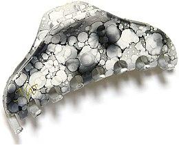 """Духи, Парфюмерия, косметика Заколка """"Краб"""", NK759-1237pd, черно-белый глянец - Mari N."""