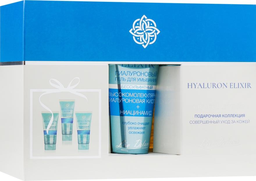 Подарочный набор №1 - Liv Delano Hyaluron (f/gel/75ml+d/cr/50ml+n/cr/50ml)