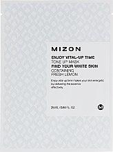 Духи, Парфюмерия, косметика Тканевая маска для лица осветляющая с экстрактом лимона - Mizon Enjoy Vital-Up Time Tone Up Mask