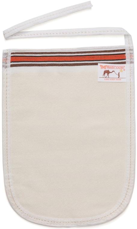 Мочалка пилингующая кесе Kelebek, мягкая, белая - ЧистоТел