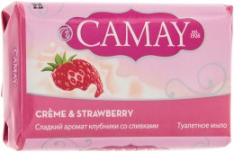 Духи, Парфюмерия, косметика Туалетное мыло - Camay Creme and Strawberry