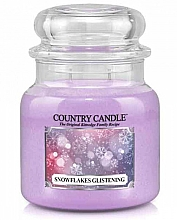 Парфумерія, косметика Ароматична свічка - Country Candle Snowflakes Glistening