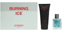 Духи, Парфюмерия, косметика Iceberg Burning Ice - Набор (edt/100ml + sh/gel/200ml)