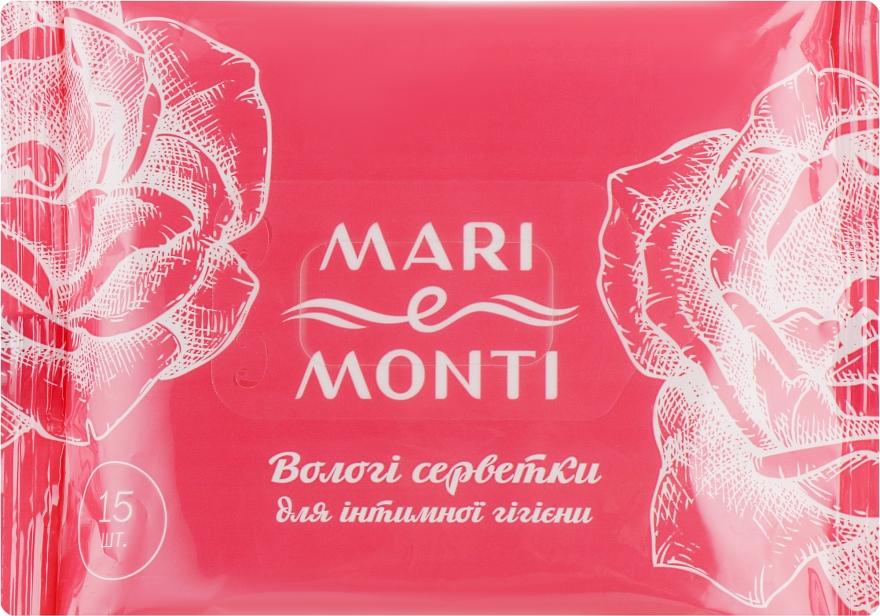 Влажные салфетки для интимной гигиены, с ромашкой и календулой - Mari E Monti