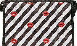 Духи, Парфюмерия, косметика Косметичка, 107, полосатая с губками - Элита