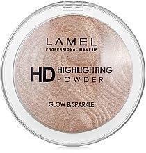 Духи, Парфюмерия, косметика Хайлайтер - Lamel Professional HD Highlighting Glow & Sparkle Powder